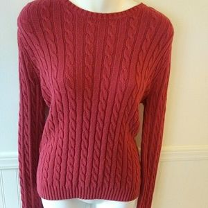 Tommy Hilfiger Chunky Knit Sweater Small Red